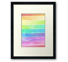 Summer Sorbet Rainbow Stripes Framed Print