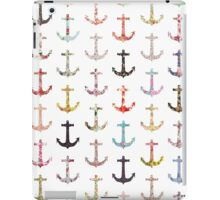 Vintage retro sailor girly floral nautical anchors iPad Case/Skin