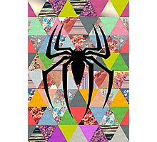 Spider-Man logo with hipster triangles Photographic Print
