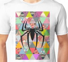 Spider-Man logo with hipster triangles Unisex T-Shirt