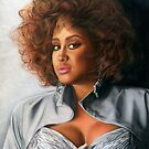 Phyllis Hyman Color Pencil @ www.KeithMcDowellArtist.com  by  Keith McDowell, Artist