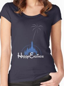 Happy Endings Women's Fitted Scoop T-Shirt