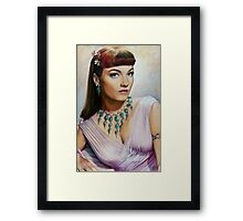 Anne Baxter Color Pencil @ www.KeithMcDowellArtist.com  Framed Print