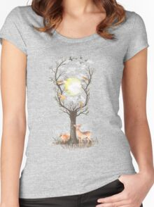 Listen to the Birds Women's Fitted Scoop T-Shirt