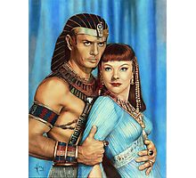 Yul Brynner and Anne Baxter Color Pencil  @ www.KeithMcDowellArtist.com  Photographic Print