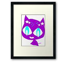 Purple kitten vetor art Framed Print