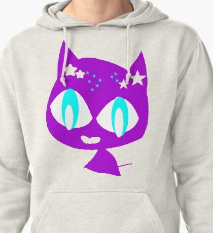 Purple kitten vetor art Pullover Hoodie