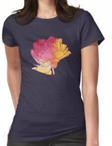 Peony flower Womens Fitted T-Shirt