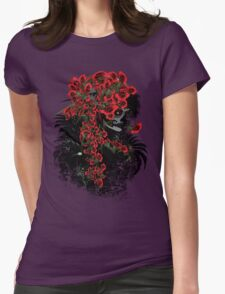 Sugar Skull Girl Womens Fitted T-Shirt