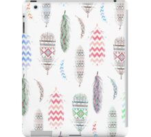 Feathers Pink Tribal Aztec Teal Chevron Pattern iPad Case/Skin