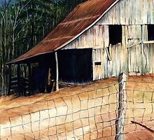 Greek Barn @ www.KeithMcDowellArtist.com  by © Keith McDowell, Artist