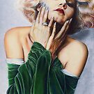 Jean Harlow Color Pencil @ www.KeithMcDowellArtist.com   by  Keith McDowell, Artist