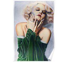 Jean Harlow Color Pencil @ www.KeithMcDowellArtist.com   Poster