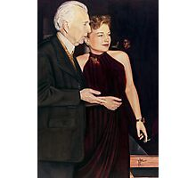 Frank Lloyd Wright and Anne Baxter @ www.KeithMcDowellArtist.com  Photographic Print