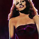 Rita Hayworth Color Pencil @ www.KeithMcDowellArtist.com by  Keith McDowell, Artist