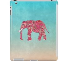 Whimsical Colorful Elephant Tribal Floral Paisley iPad Case/Skin