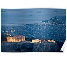 Acropolis By Night Poster