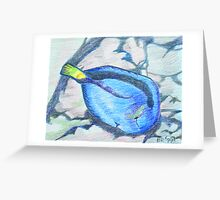 Blue Surgeon Fish Greeting Card
