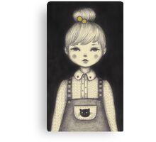 Little Waitress Canvas Print