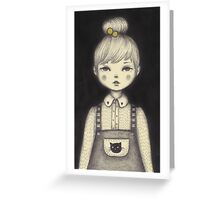 Little Waitress Greeting Card