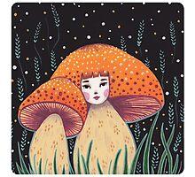Uncommon Variety - Copper Mushroom Photographic Print