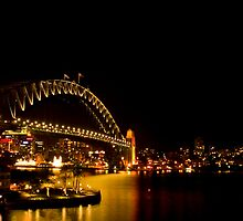 Sydney Harbour Bridge Panoramic by damienlee