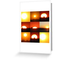 The Different Faces Of The Sun Greeting Card