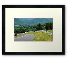 Back Road Home Framed Print