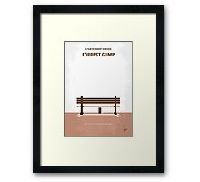 No193 My Forrest Gump minimal movie poster Framed Print