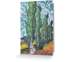 Cypresses Greeting Card