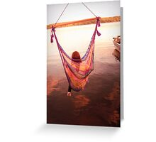 swing the days away Greeting Card