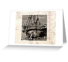 Restoration, Endevour in dry dock, Garden Island Greeting Card