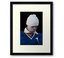 White Top Framed Print