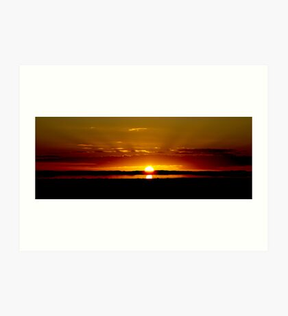 Sunset over Lake Bonney Art Print