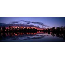 Murray River Sunset, Berri, South Australia Photographic Print