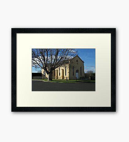 St Baptist Church Perth, Tasmania. Framed Print