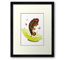 A Big Chameleon Framed Print
