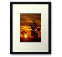 Over Golden Plains Framed Print