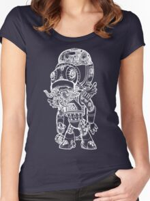 Cthulhu Tshirt in White Women's Fitted Scoop T-Shirt