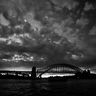 Storm Over Bridge by MiImages