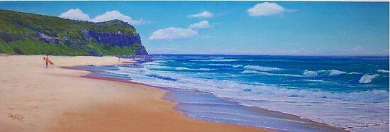 Dudley Beach, Newcastle, NSW, Australia by Carole Elliott