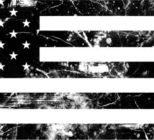 American Flag - Distressed (Black) Sticker