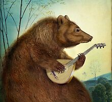 Mandolin Bear by Catrin Welz-Stein