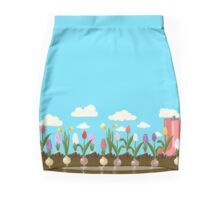 Holiday background with colorful flowers Mini Skirt