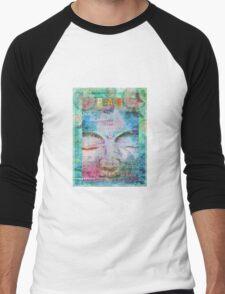 Peace Buddha Men's Baseball ¾ T-Shirt