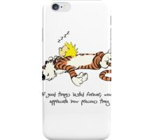 Calvin And Hobbes Quote Funny Sleeping iPhone Case/Skin