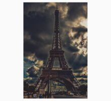 Reaching the Sky - Eiffel Tower - Paris - France One Piece - Short Sleeve