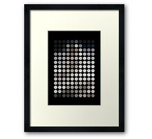 As Spots (Man On The Moon) Framed Print