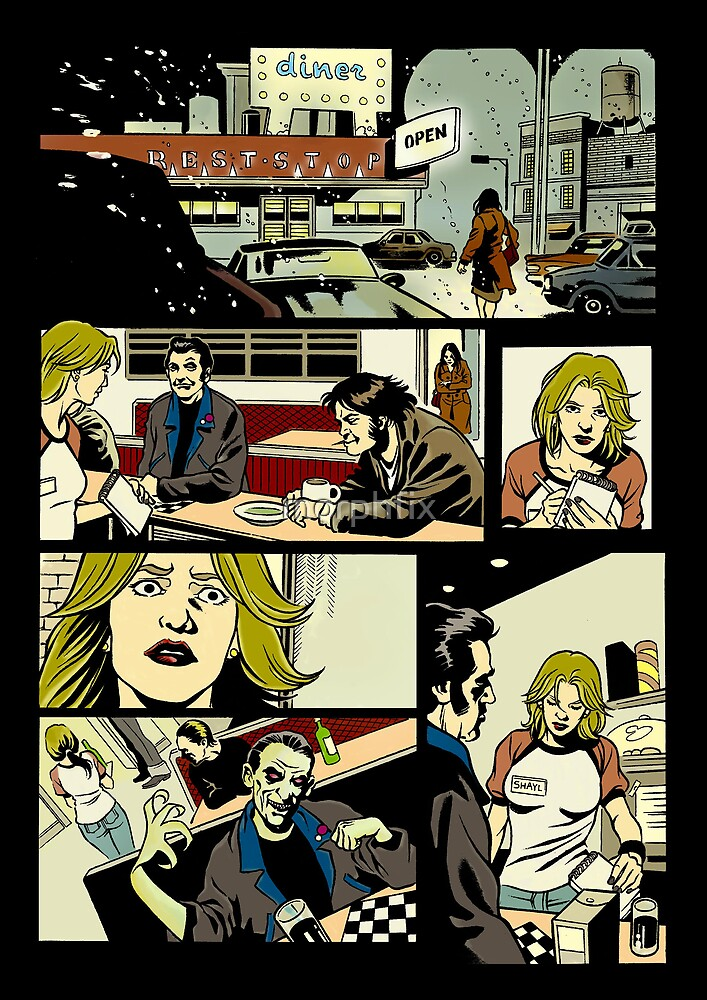 GROUP COMIC PAGE 1 COLOURED by morphfix