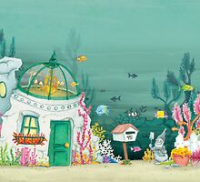 House in the sea by Sanne Thijs